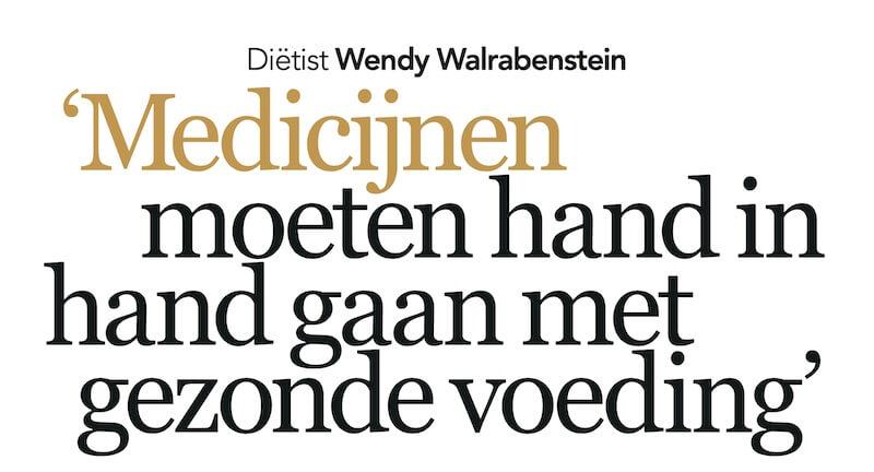 Interview in Plus magazine _ Wendy Walrabenstein